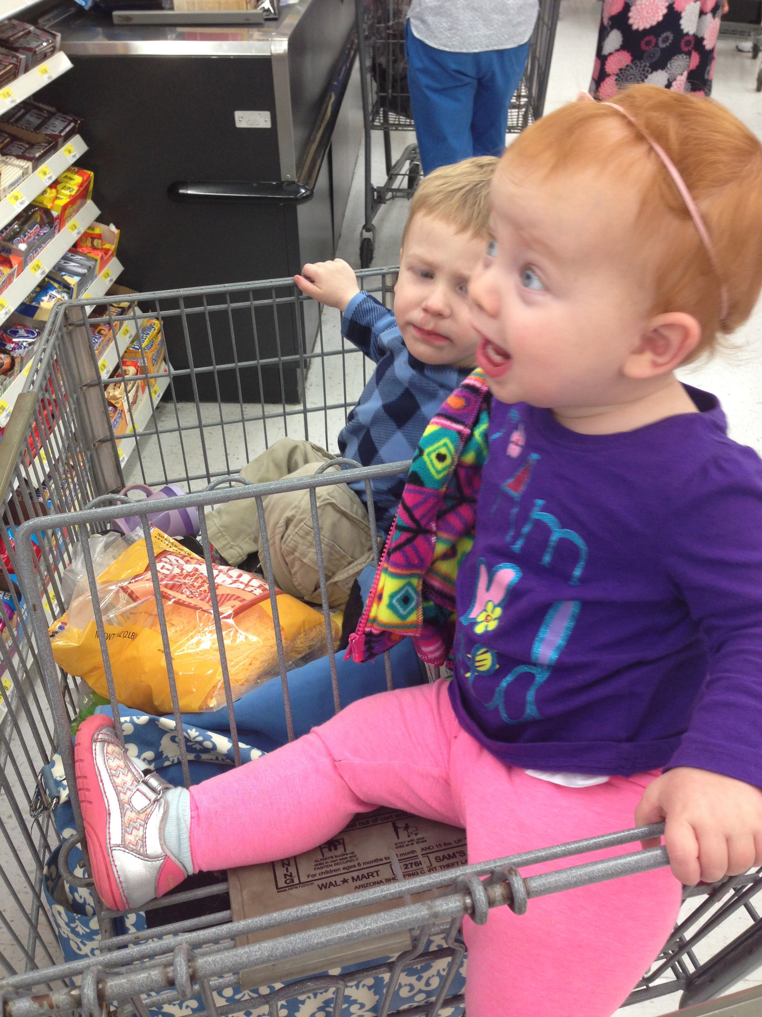 Camille was excited too - but she just loves shopping and eating. So, it's a win-win.