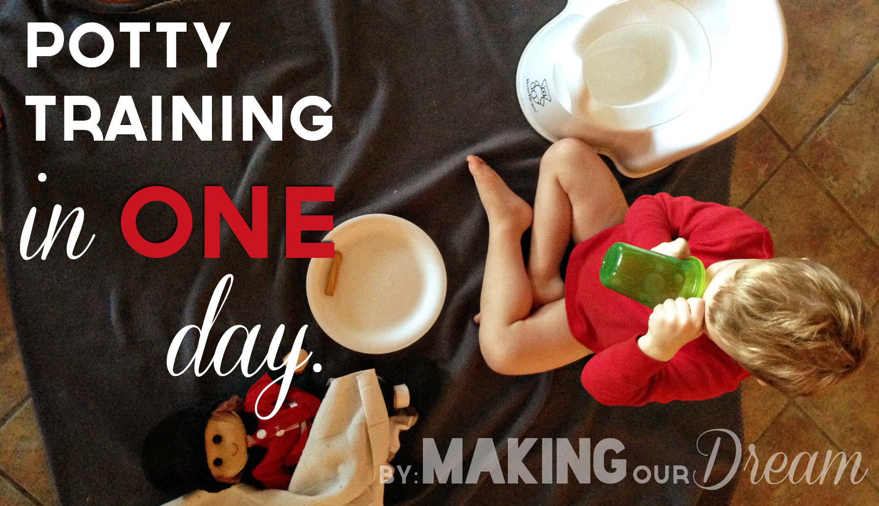 Potty Training in 1 Day by Making Our Dream